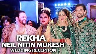 Evergreen Rekha At Neil Nitin Mukesh's Wedding Reception