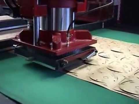 Chiesa Sanson F1 EDI CNC Die Cutting System w Pit Stop - Gasket Cutting.mpg