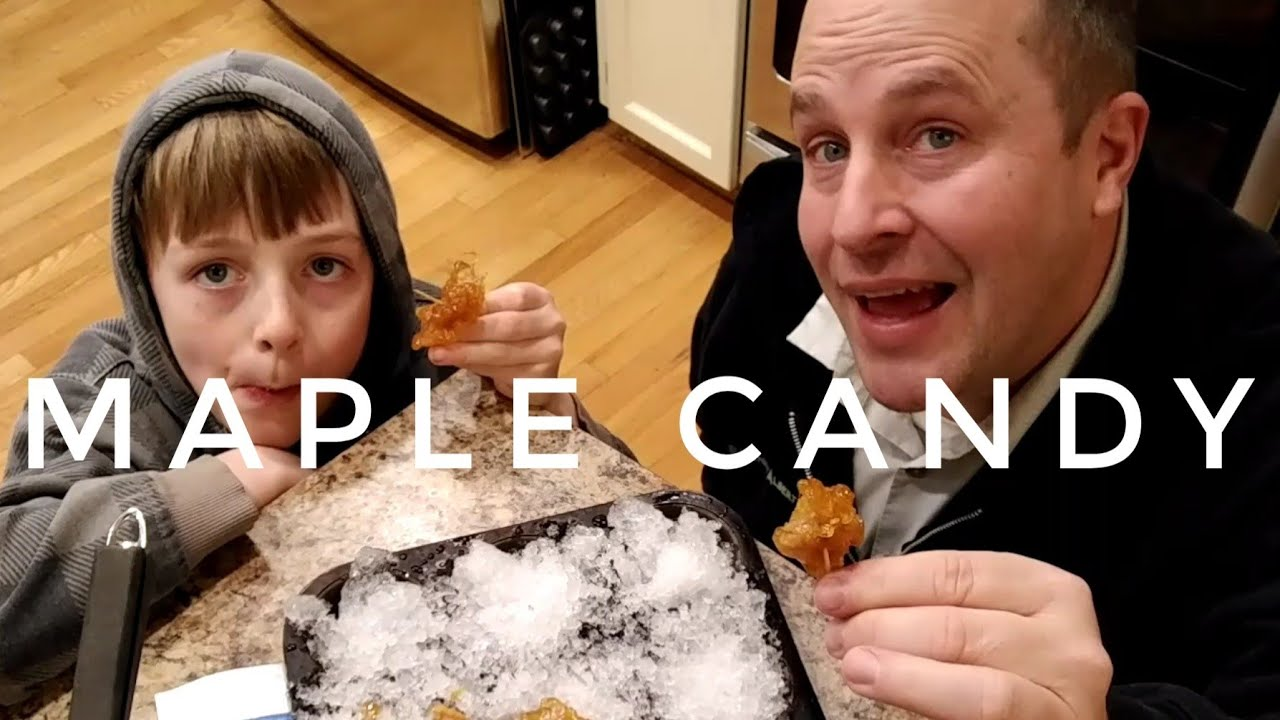 54be618476c Turning Maple Syrup   Snow to Maple Candy - YouTube