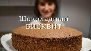 Шоколадный БИСКВИТ Простой рецепт идеального бисквита Chocolate Biscuit