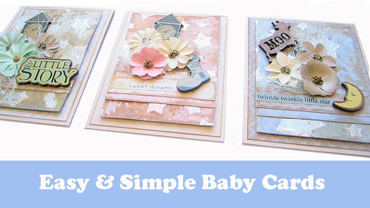 Beginner Card Making Baby Cards With Distress Oxide Inks Youtube