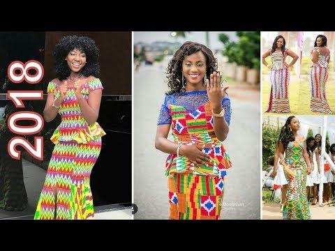 Kente Styles 2018: New Kente Designs For Ladies  in African 2018