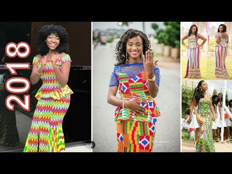 Kente Styles 2018: New Kente Designs For Ladies  in African 2018