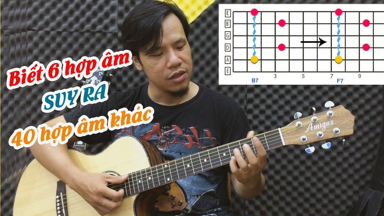 [Bí quyết] Học 1 hợp âm guitar suy ra nhiều hợp âm khác cực nhanh và đơn giản   Guitar4Freedom