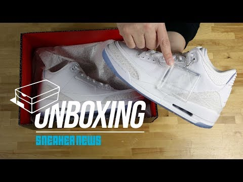 """Unboxing The Air Jordan 3 """"Pure White"""""""