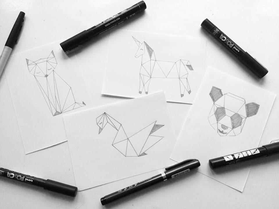 Tuto animaux g om triques youtube - Coloriage geometrique ...