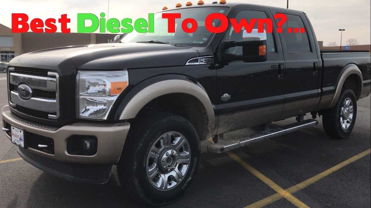 the best diesel trucks to own ford diesel vlog. Black Bedroom Furniture Sets. Home Design Ideas