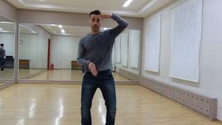 Клубные танцы для мужчин. Правильная работа колена.