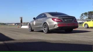 Brutal 1200 Hp Mercedes Cls 63 | Loud 1/4 Mile Acceleration | Flugplatzblasen2016