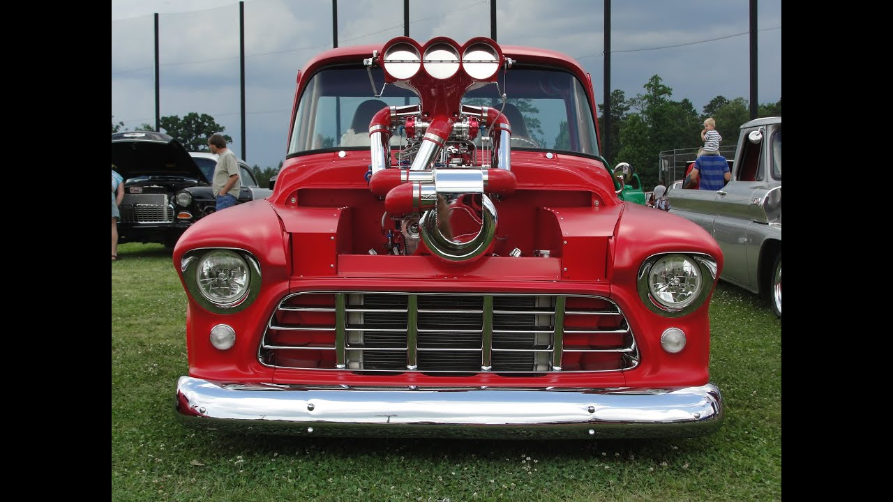 1955 chevrolet pro street truck youtube - Nasty 57 Chevy Pro Street Truck Blown Nitrous 2 4 S Huge Turbo Wild Flat Red Sweet