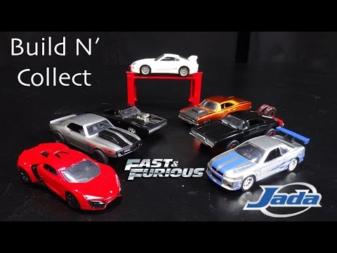 The Fast and the Furious Build and Collect 6-Car Set Jada Toys