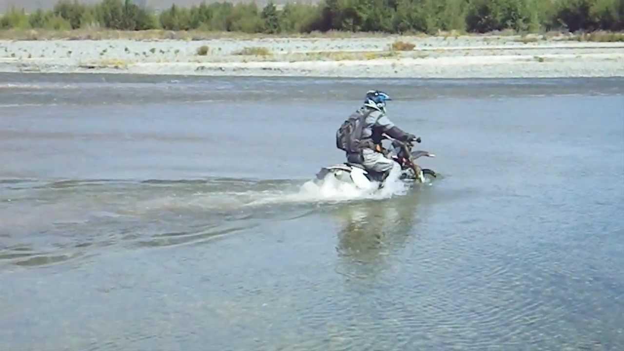 Dirt Bike Riding Deep River Crossing Youtube
