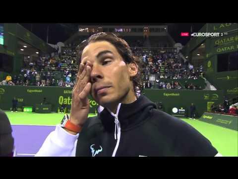 Robin Haase vs Rafa Nadal Interview DOHA 2016