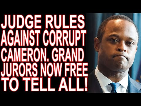 Daniel Cameron Loses As Judge Rules Grand Jurors Can Talk!