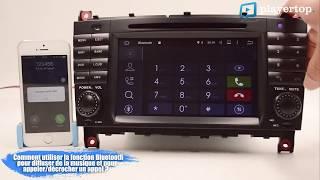 GPS Mercedes classe C- Android et bluetooth Auto chez Player Top