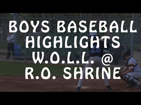 Royal Oak Shrine vs. Our Lady of the Lakes - 2016 Baseball Highlights on STATE CHAMPS!