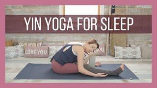 Yin Yoga for Sleep - Yin Yoga Bedtime & Stress Reduction Class {47 min}