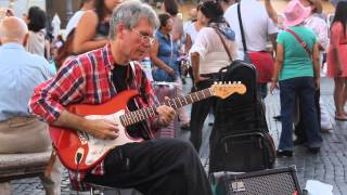 Street musician plays Stairway to Heaven (Piazza Navona, Rome) [1080p]