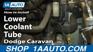 How To Install Fix Leaking Lower Coolant Tube 2001-10 3.3L 3.8L Dodge Caravan Voyager Town & Country