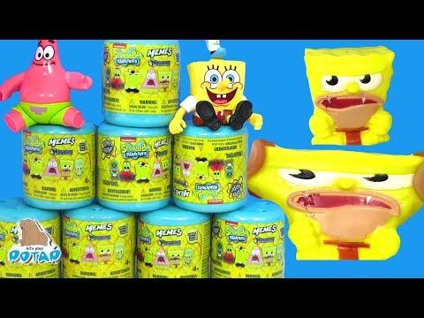 Губка Боб Сюрпризы! Видео для детей SpongeBob Игрушки Антистресс! Спанч Боб