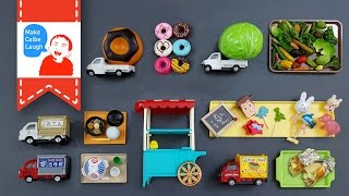 Learning Vegetables and special food with food miniature