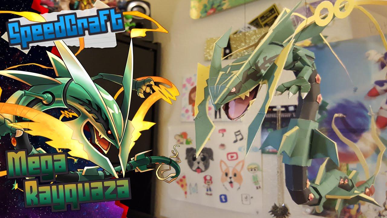 Papercraft Pokemon Papercraft ~ Mega Rayquaza~