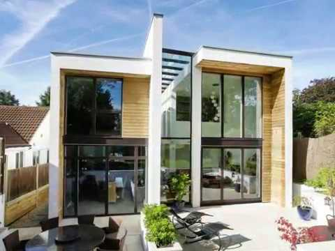 Modern Home Design Comprising Of Long Wrapping Elements That