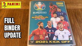 Full Binder Update! COMPLETED !  Panini UEFA Euro 2021 KICK OFF Adrenalyn XL 20/21
