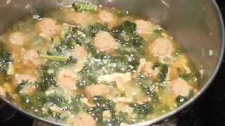Kale & Meatball Soup