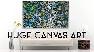 HUGE Canvas Painting by Elsa Rhae