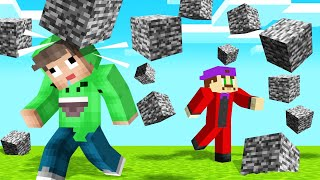 MINECRAFT But BEDROCK FALLS From The SKY! (Watch Out)