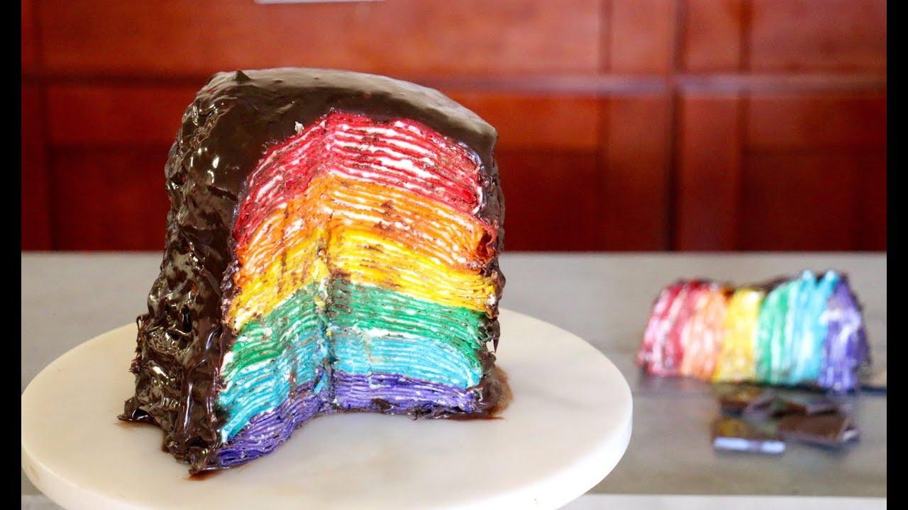 Chocolate Rainbow Cake Recipe