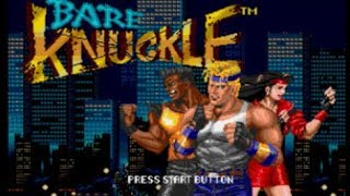 Bare Knuckle - Ikari no Tetsuken - Streets of Rage - Bare Knuckle 1-Blaze Solo Play - User video