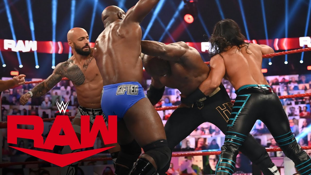 Mustafa Ali, Apollo Crews & Ricochet vs. The Hurt Business: Raw, Sept. 28, 2020