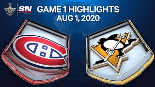NHL Highlights   Canadiens vs. Penguins, Game 1 – Aug. 1, 2020