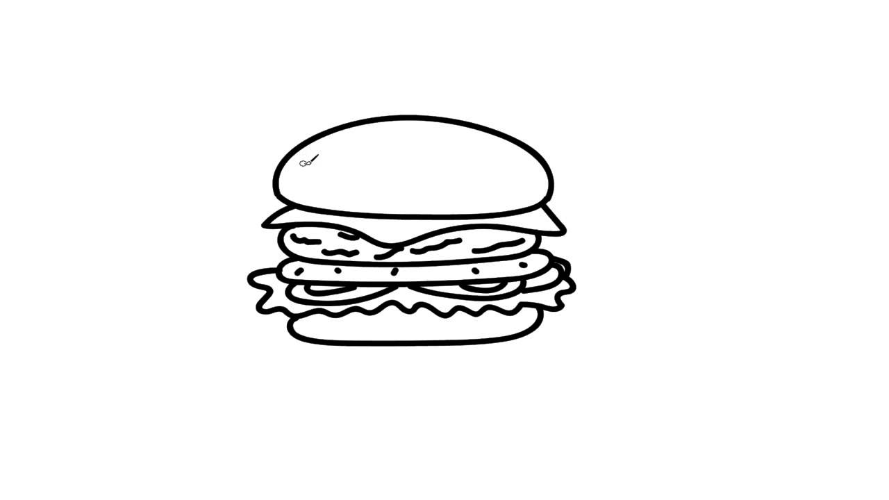 How to Draw a Burger- Art Devotional Tutorial - YouTube