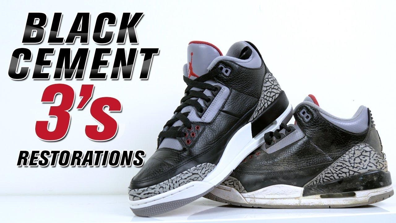 3c0fd852f153d8 Restoring Jordan Black Cement 3 - Restorations with Vick - YouTube