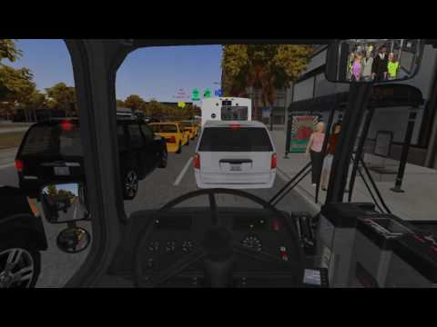 Omsi 2 Gameplay: New Flyer C40lf  Chicago 140 From Navy Pier to Museum Campus.