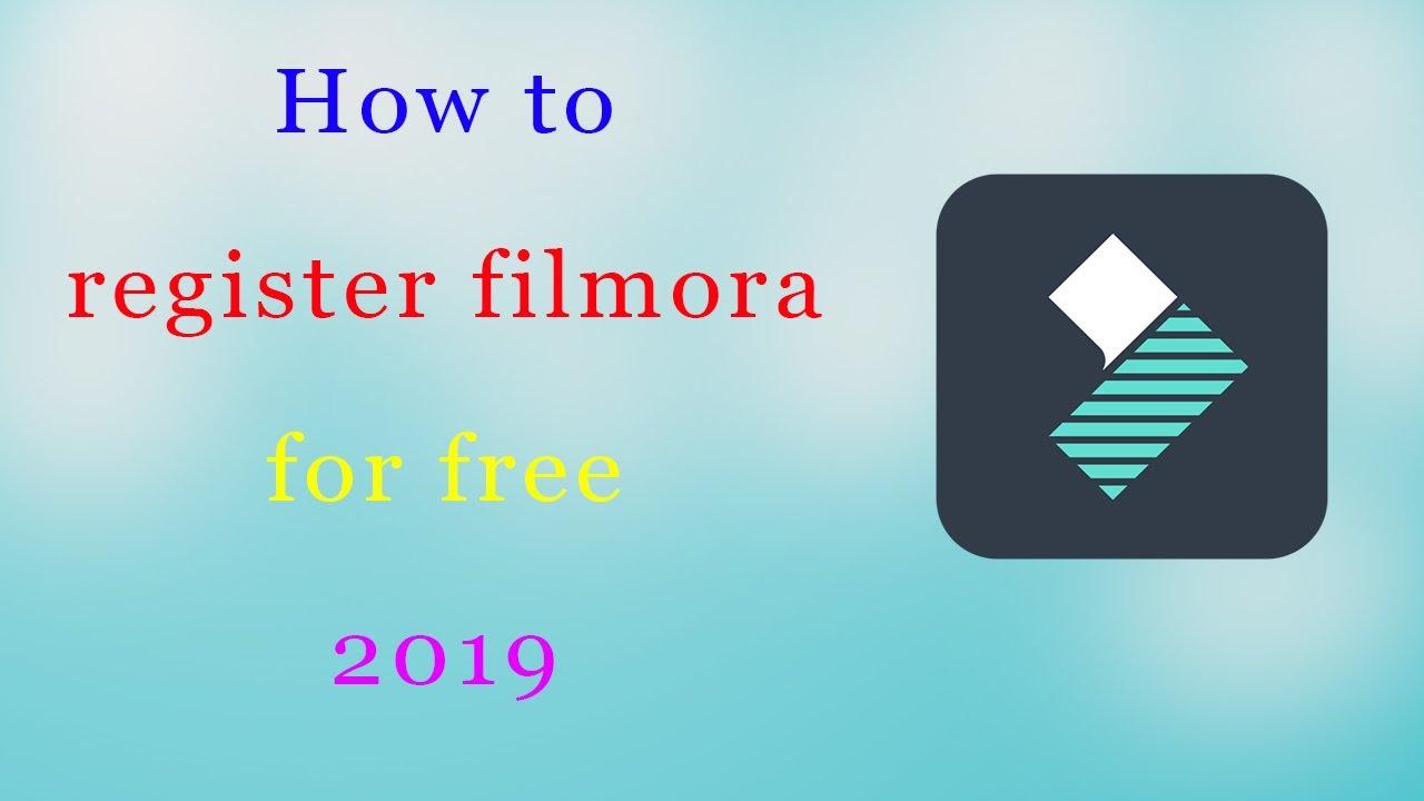 register filmora for free 2018