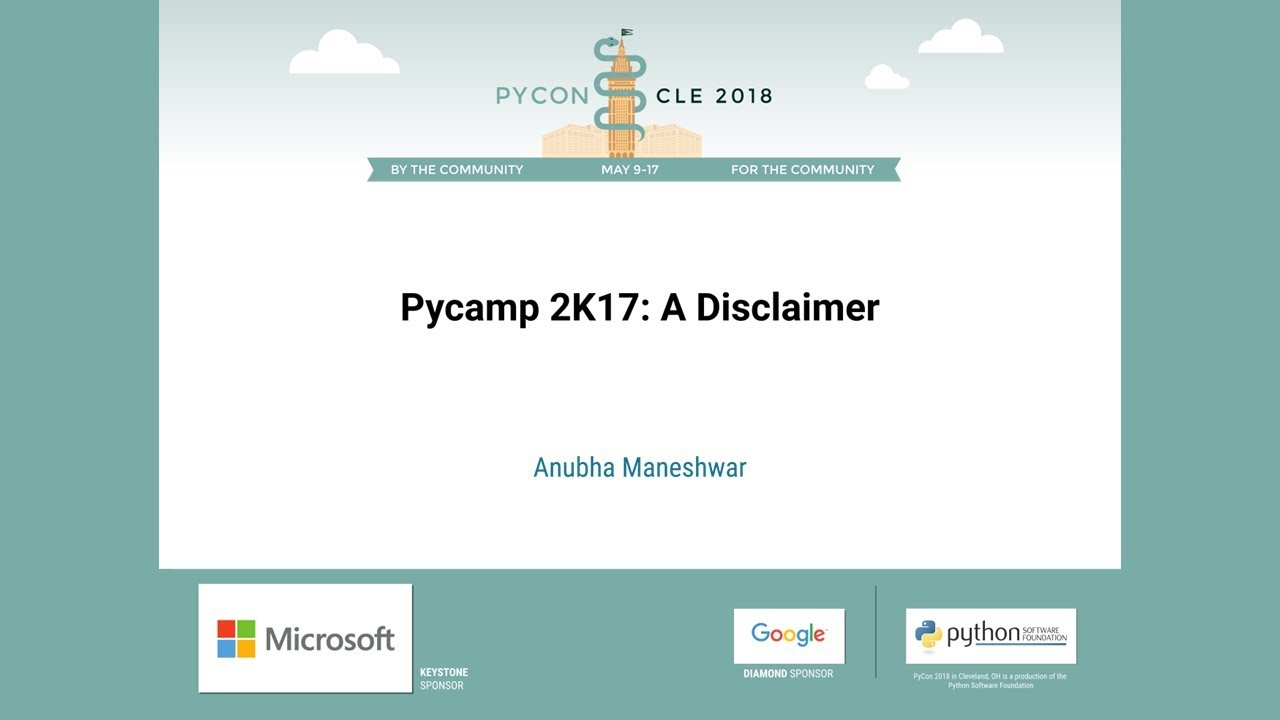 Image from Pycamp 2K17: A Disclaimer