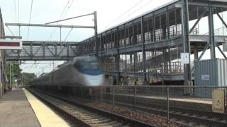 [HD] High Speed Amtrak Trains At Canton Junction