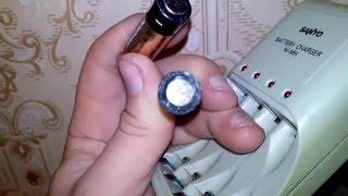 Зарядка батарей з допомогою зарядного пристрою для акк