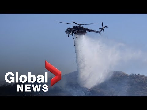 Dangerous Santa Ana and Diablo winds drive California wildfires