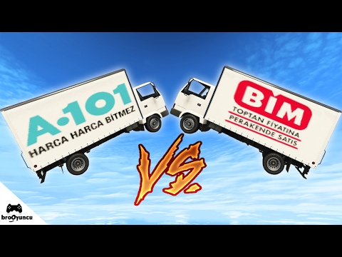 BİM ARABASI VS A•101 ARABASI - GTA 5