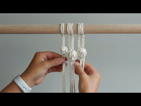 DIY Macrame Tutorial - How To Tie The Rose Knot!