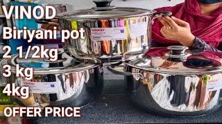 VINOD BIRIYANI POT 3 peice set combo offer