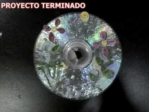 Manualidades reciclando cds youtube - Manualidades con cd viejos ...