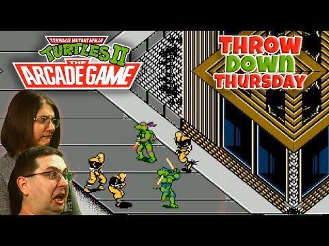 Play Teenage Mutant Ninja Turtles 2 The Arcade Game - THROW DOWN THURSDAYS Eric & Mary Let's Play Part 2