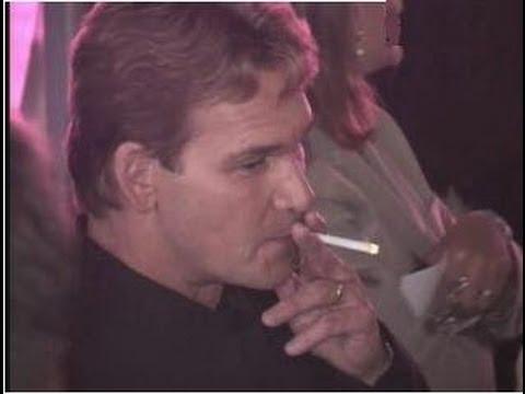 PATRICK SWAYZE smokes ...