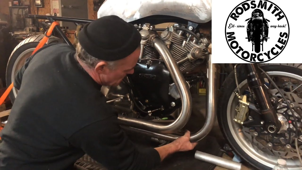 e173cc52953a Custom Exhaust on Vincent Motorcycle by Craig Rodsmith - YouTube